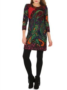 Izabel London Patterned Tunic Dress