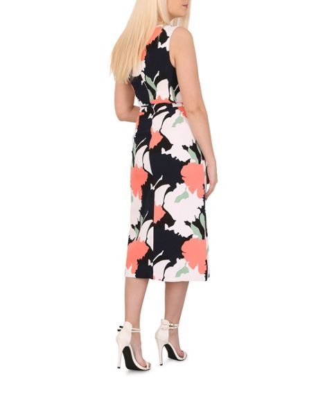 Izabel London Floral Mid-Length Shift Dress