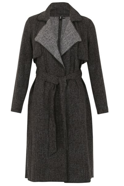 Izabel London Flap Collar Duster Coat