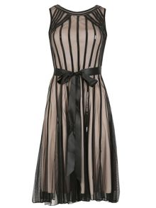 Izabel London Sequin Trim Sheer Dress