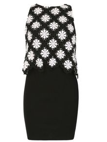 Izabel London Back Reveal Crochet Dress