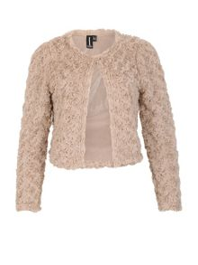 Izabel London Textured Shrug Jacket