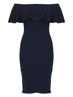 Frilled Collar Bodycon Dress