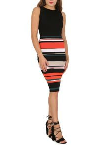 Izabel London Stripe Skirt Pencil Dress
