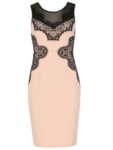 Izabel London Lace Insert Pencil Dress