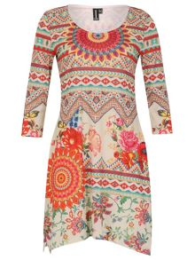 Izabel London Abstract Print Dress