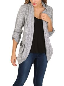 Izabel London Scarf Neck Cardigan Jacket
