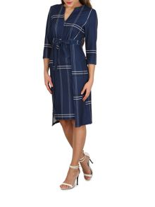 Izabel London Checked Bow Front Dress