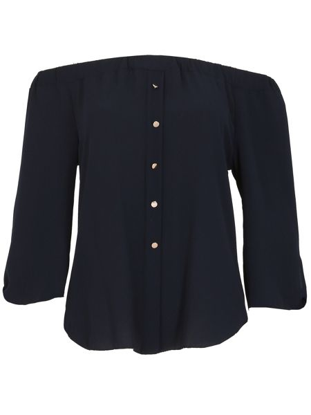 Izabel London Buttoned Gypsy Top