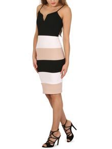 Izabel London Colour Block Bodycon Dress