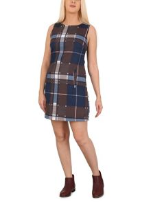 Izabel London Checked Sleeveless Pinafore Dress