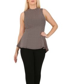 Izabel London Fitted Sleeveless Top
