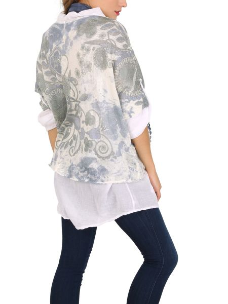 Izabel London Scarfed Layer Loose Fit Top