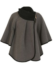Izabel London Zip Neck Poncho Jacket