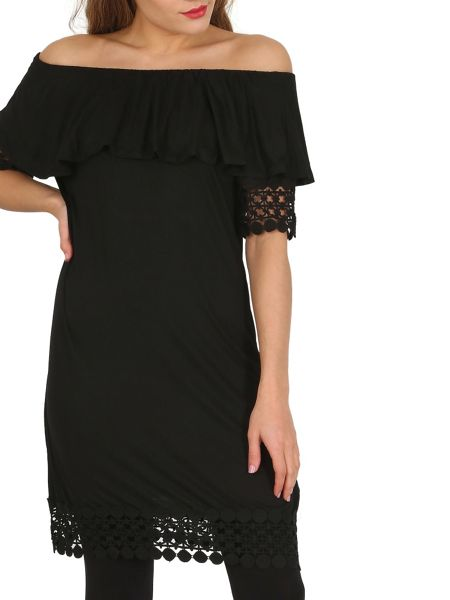Izabel London Crochet Detail Gypsy Dress