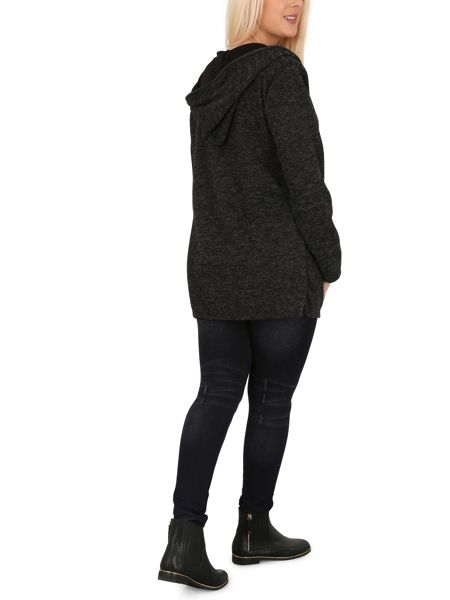 Izabel London Casual Hooded Cover Coat