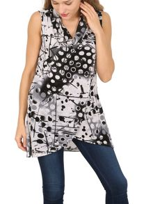 Izabel London Sleeveless Tunic Top