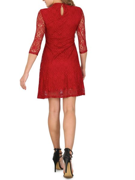 Izabel London Netted Keyhole Neck Dress