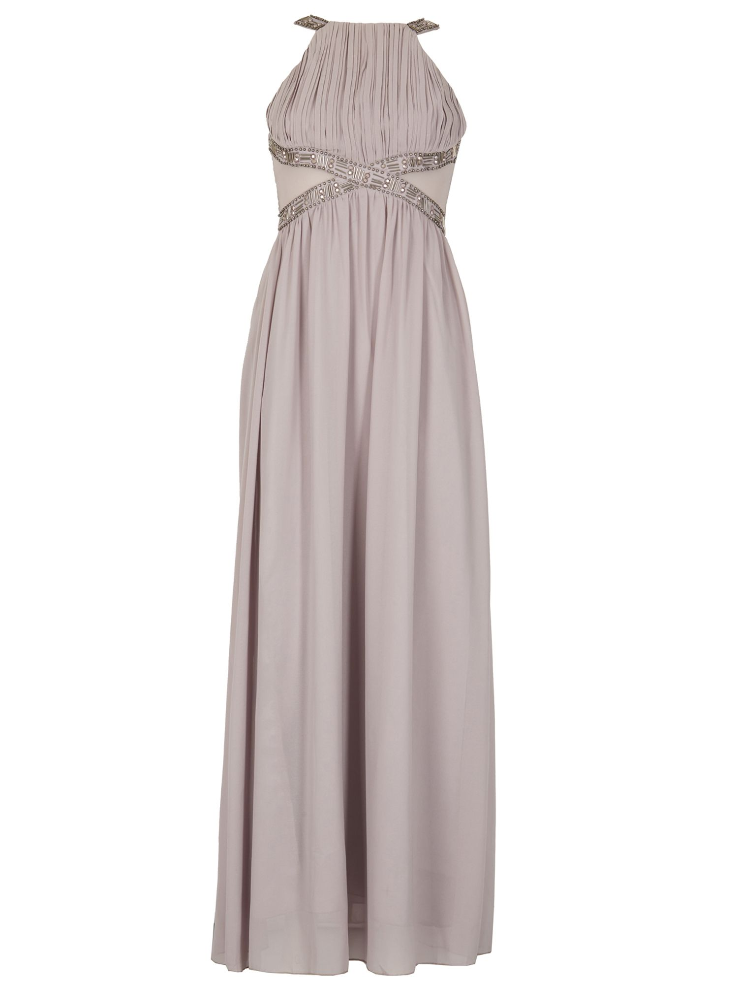 Izabel London Grecian Style Longer Length Dress, Grey