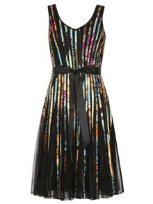 Izabel London Multi-Coloured Ribbon Midi Dress