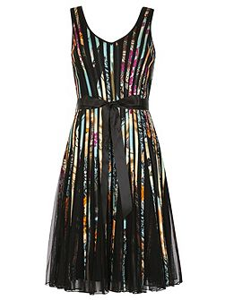 Multi-Coloured Ribbon Midi Dress