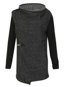 Izabel London Clip Waist Cover-Up Jacket