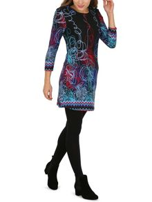 Izabel London Abstract Floral Print Dress