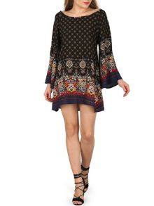 Izabel London Ethnic Print Loose Fit Dress