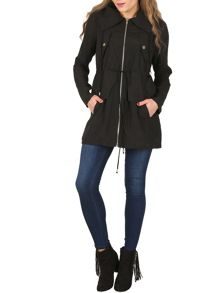 Izabel London Long Sleeve Zip Up Jacket