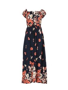Izabel London Gypsy Style Floral Long Dress