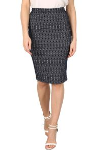 Izabel London Geo Print Skirt