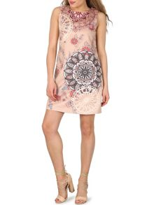 Izabel London Kaleidoscope Print Shift Dress