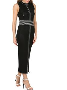 Izabel London Linear Trim Midi Bodycon Dress