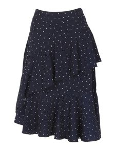 Izabel London Polka Dot Salsa Skirt