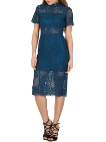 Izabel London Edwardian Laced Midi Dress