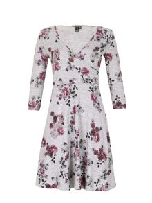 Izabel London Faux Wrap Floral Dress
