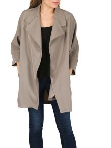 Izabel London Box Drape Over Jacket