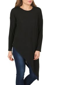 Izabel London Asymmetric Hem Day Top