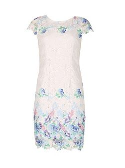 Floral Trim Embroidery Dress