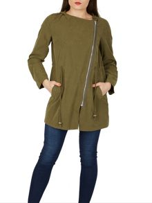 Izabel London Elegant Hooded Lightweight Parka