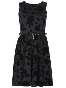 Izabel London Belted Floral Detail Dress