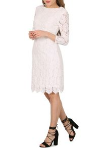 Izabel London Lace Embossed Shift Dress