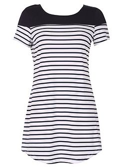 Stripe Detail T-shirt Dress