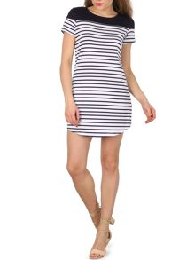Izabel London Stripe Detail T-shirt Dress