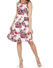 Izabel London Floral Fit and Flare Midi Dress