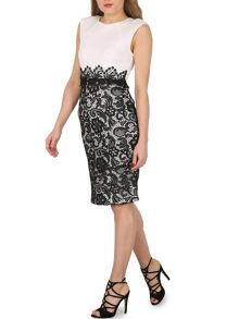 Izabel London Laced Skirt Pencil Dress