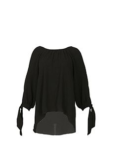 Cold-Shoulder Tunic Top