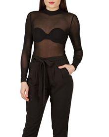 Izabel London Sheer Polo Top