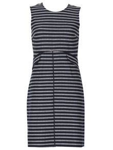 Izabel London Striped Faux Split Dress