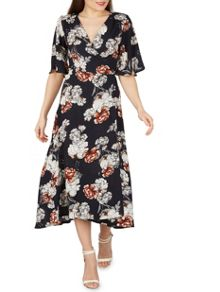 Izabel London Floral Print Wrap Dress